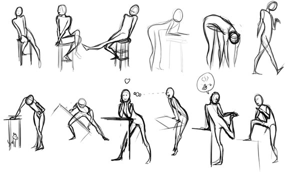 Scribble Gesture Drawing : Schoolism s gesture drawing class and my thoughts