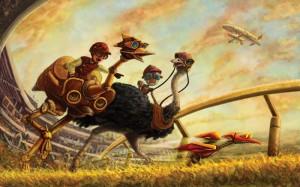 Ostrich-RaceR