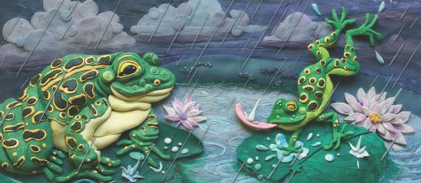FrogsCMYkRain